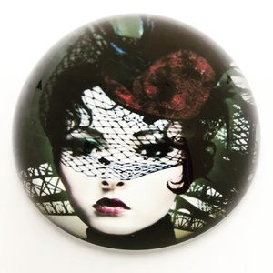 """Other - 3"""" Mysterious Steampunk Woman Paperweight"""